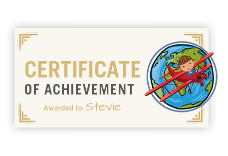 Certificate of achievement reward