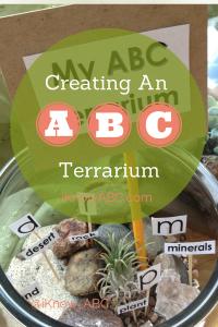 Kid Summer Activities Creating an ABC Terrarium