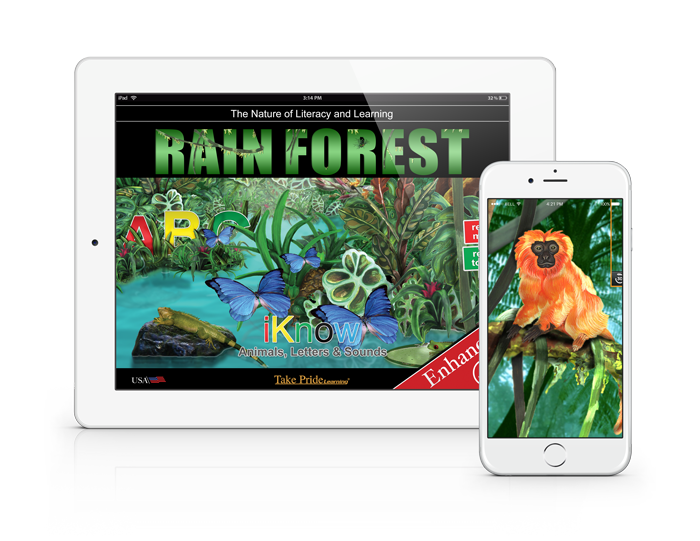 Iknowabc kids learning learn to read learn abc explore the rain forest with level 2 fandeluxe Image collections