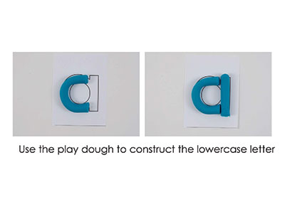 A – Play Doh Letter