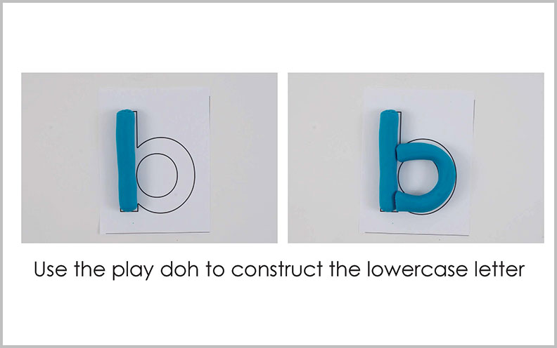 B – Play Doh Letter