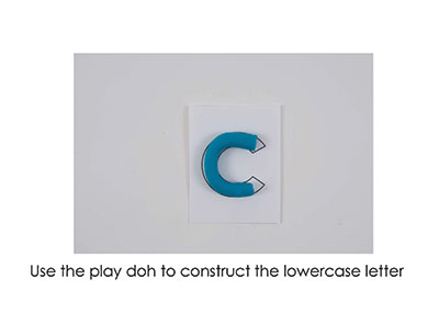 C – Play Doh Letter