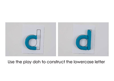 D – Play Doh Letter