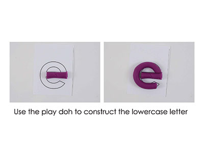 E – Play Doh Letter