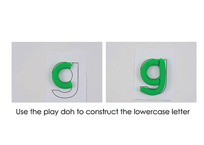G – Play Doh Letter