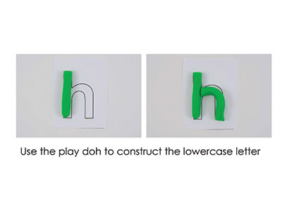 H – Play Doh Letter
