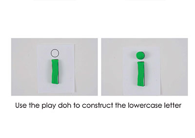 I – Play Doh Letter