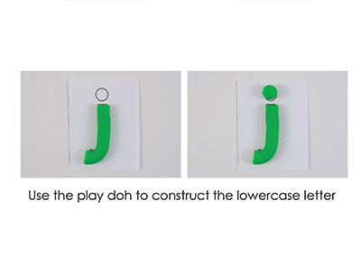 J – Play Doh Letter