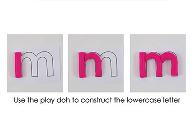 M – Play Doh Letter