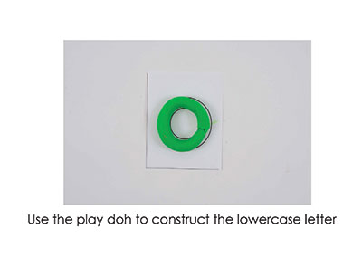 O – Play Doh Letter