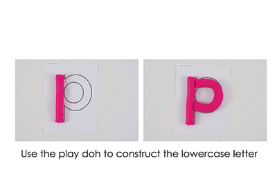 P – Play Doh Letter