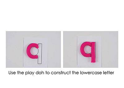 Q – Play Doh Letter