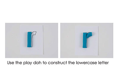 R – Play Doh Letter