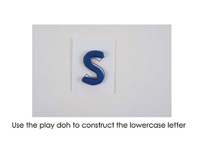 S – Play Doh Letter