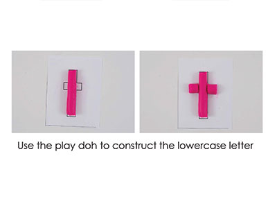 T – Play Doh Letter
