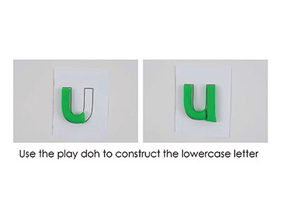 U – Play Doh Letter