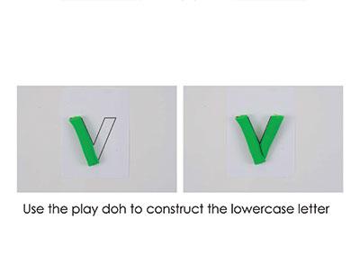 V – Play Doh Letter