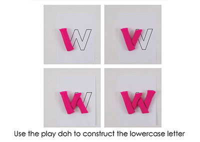W – Play Doh Letter
