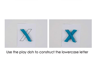 X – Play Doh Letter