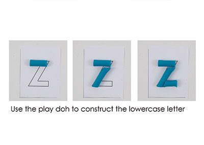 Z – Play Doh Letter