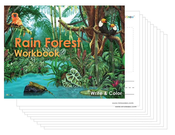 Iknowabc kids learning learn to read learn abc free rain forest workbook fandeluxe Image collections