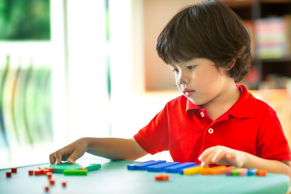 kids learning math skills at home
