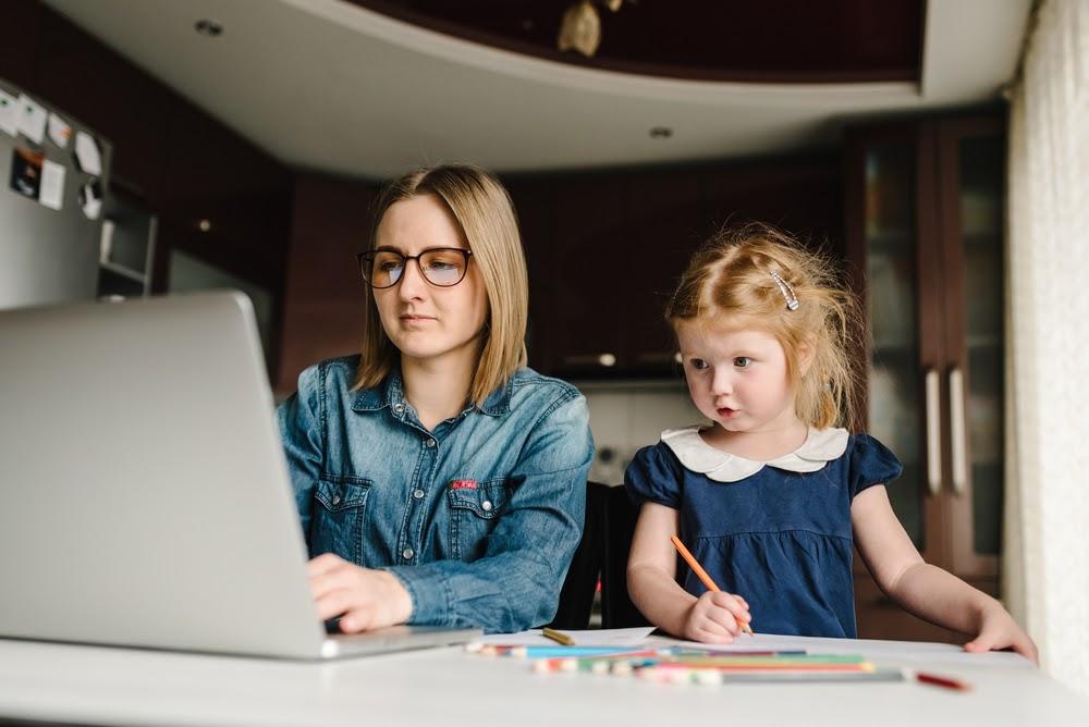 working and teaching from home during coronavirus